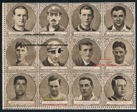 1922 sheet 12 Sports Fun QPR Leeds Wigan